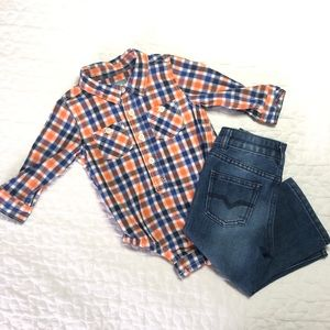 Boys Plaid Onsie | Baby Gap Size 6-12 months